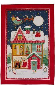 Geschirrtuch, Santas Workshop Weihnachten von Ulster Weavers