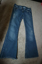 Silver Jeans size 28 Flare torn BUCKLE-RETAIL $80 WomenJunior worn distressed