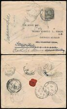 NIGERIA to GOLD COAST 1922 TPO + 12 POSTMARKS to CATHOLIC MISSION + REDIRECTED