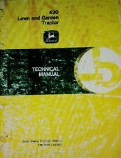 John Deere 430 Diesel Lawn Garden Tractor Major Overhaul Service Manual 610pg