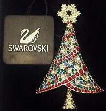 Signed Swan 2004 Swarovski Rockefeller Christmas Tree Brooch Pin