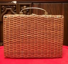 Large Vtg Plastic Basket Purse By Guild Creations Hong Kong