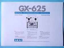 Operador's Manual-manual de instrucciones para Akai gx-625