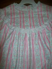 Little Girls Lanz Of Salzburg Nightgown Pajamas Size 7 / 8 Medium New Nwt Pink