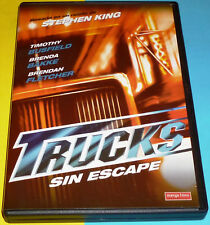 TRUCKS / SIN ESCAPE Stephen King - English Español DVD R2 Nueva