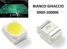 50 LED SMD PLCC2 3528 RETROILLUMINAZIO AUTO BIANCO GHIACCIO 9000-10000K 8-9LUMEN