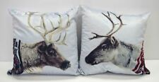 Reindeer Armchair Square Couch Lounge Sofa Cushion Cover Pillow Case 17x17 Inch