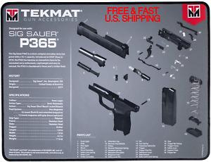 SIG P365 GUN Cleaning Mat Diagram Waterproof Oil Resistant TekMat SEWN EDGING