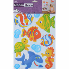 Room Deco Removable Wall Stickers Decals - Marine Fish Shark Seahorse  RRP £5.99