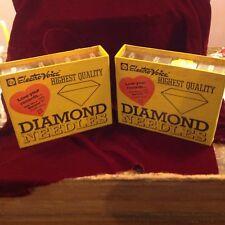 Vintage Electro-Voice Diamond Needle Cases & 60+ Needle Record Player Phonograph