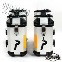 Silver 36L Aluminium Panniers Saddlebags Side Cases Luggage Bags For BMW R1200GS