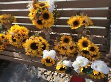 Wedding flowers bridal bouquet decorations sunflowers 8 bouquet add color