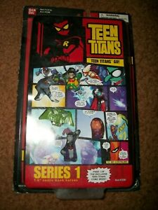 BANDAI DC TEEN TITANS GO! - SERIES 1 HERO SET 1 mini figures SEALED NEW!!!! 2003