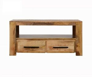 MADE TO ORDER AVALON INDIAN WOODEN ZEN MANGO RUSTIC T.V CABINET 115x40x55