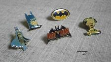 Batman Metal Enamel Pin Badge Lot X 5 New Joker