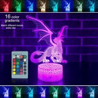 3D LED Night Light Remote Control Dinosaur Series Table Desk Lamp Kids Best Gift