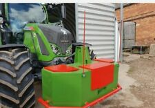 More details for tractor front centre / straight line marker weight block - red  1m long x2