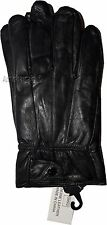 Men's Size M Leather Gloves, Winter gloves, lined warm Black leather gloves BNWT