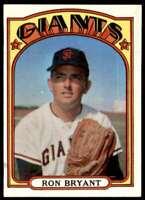 1972 Topps Ron Bryant San Francisco Giants #185