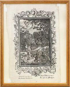 8363058 Incisione Der Opfernde Abraham Aus Scheuchzer Physica Sacra