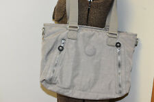 KIPLING Gray Nylon Travel/Lightweight/Organizer/Handbag/Pockets Purse