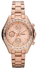Fossil CH2826 Dylan Rose Gold Dial Rose Gold Stainless Chronograph Women's Watch