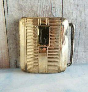 Vintage Mid Century Sterling Silver Gold Washed HADLEY Quality BELT BUCKLE  L