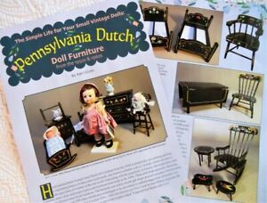 10p History Article - VTG 1950s Pennsylvania Dutch Painted Doll Furniture