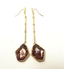 KENDRA SCOTT $80 Charmian Rose Gold Plated Sable Mica Drop Earrings