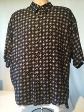 MAXINI collezione engraved Button-Front Men's Shirt Size L 100% viscose