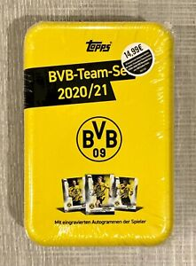 2020-21 Topps BVB Team Set MEGA TIN Borussia Dortmund Haaland Reyna Jude RC