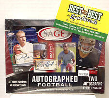 Factory Sealed 2013 Sage FOOTBALL Two Autographs / Pack HOBBY BOX Manuel LACY