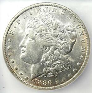 1886-O Morgan Silver Dollar $1 - Certified ICG AU53 - Rare Date - Near MS UNC!