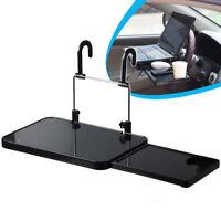 Car Computer Desk Drawer Backseat Table Black Plastic Vehicle Drink Cup Holder