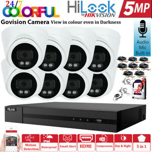 Hikvision  5MPCCTV System Colour Day & Night Audio Camera DVR Home Security Kit