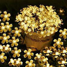 Supfait Fairy 50 Led Blossom peach flower solar string lights party wedding
