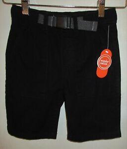 Wonder Nation youth boy sz M 8 dark black shorts Bermuda elastic waist pockets