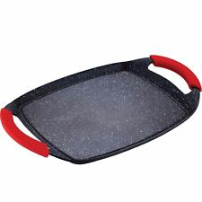 Bergner Red Stone Marble Grill Plate Griddle Pan Serving Pan BBQ Induction 36cm