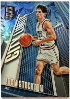 2015-16 Spectra John Stockton City Limits Insert Case Hit!!! SP Prizm Jazz HOF