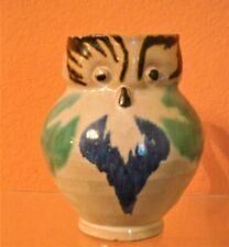 "Mini OWL Mexican Pottery 5"" Pitcher Oaxacan Margarita San Luis Potosi Folk Art"