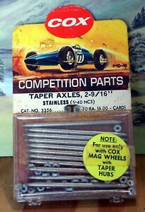 """COX 1/24 3356 TAPER AXLES 2-9/16"""" (1 PACK OF 12) NEW OLD STOCK"""