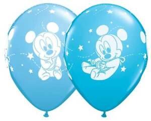 "6 pc 12"" Mickey Mouse Baby Boy Happy Birthday Party Decoration Latex Balloons"