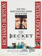 BECKET Movie POSTER 27x40 D Richard Burton Peter O'Toole John Gielgud Donald
