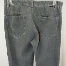 Calvin Klein Mens Corduroy Pants Cords Flat Front Casual Chino Gray 33x32 1/2