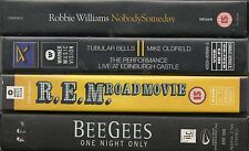 4 MUSIC VIDEOS VHS MIKE OLDFIELD ROBBIE WILLIAMS R.E.M. BEE GEES LIMITED EDITION
