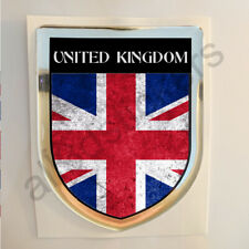 United Kingdom UK Sticker Resin Domed Stickers Flag Grunge 3D Adhesive Decal Car