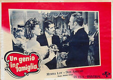 FOTOBUSTA 5, UN GENIO IN FAMIGLIA So Goes My Love MIRNA LOY, DON AMECHE POSTER