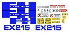 Fiat-Hitachi EX 215 - W decalcomanie adesive, kit Completo