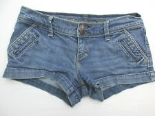Abercrombie And Fitch Sh892 Size 0 Women's Blue 99% Cotton Stretchy Denim Shorts