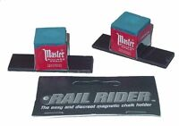 Rail Rider - Magnetic Pool Cue Chalk Holder For The Billiard Table - Free Ship